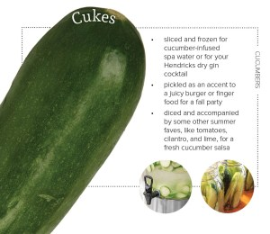 extra edibles, cucumbers