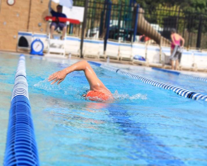 John Mosko swimming