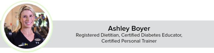 Photo of Ashley Boyer, Registered Dietitian, Certified Diabetes Educator,  Certified Personal Trainer.