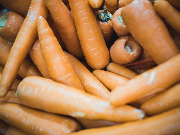 Close-up of a pile of carrots