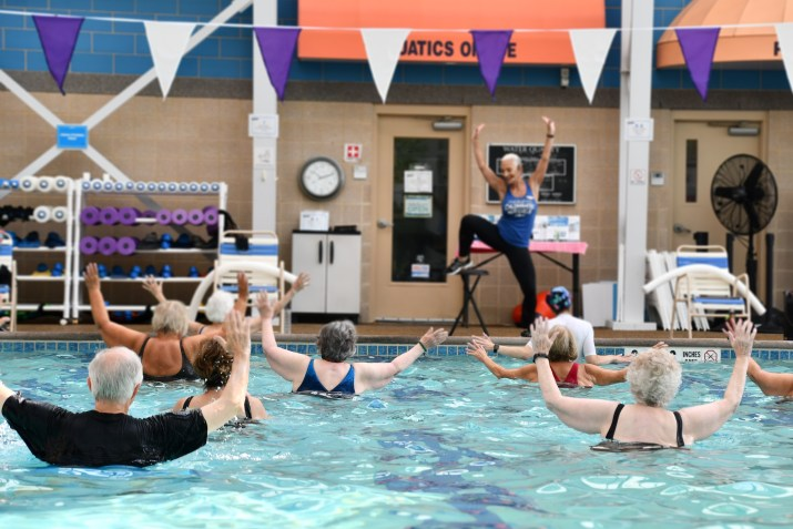 Judy leading a full pool of  WATERinMOTION®participants