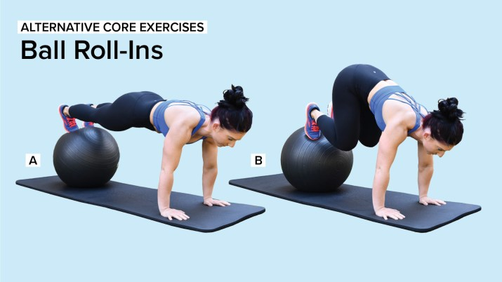 Alternative Core Exercises: Ball Roll-Ins
