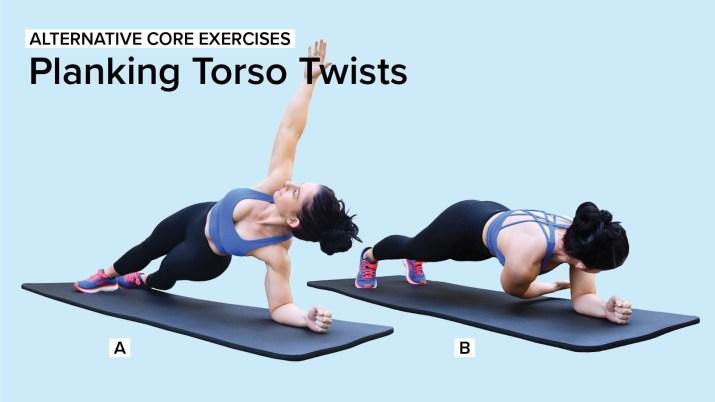 Alternative Core Exercises: Planking Torso Twists