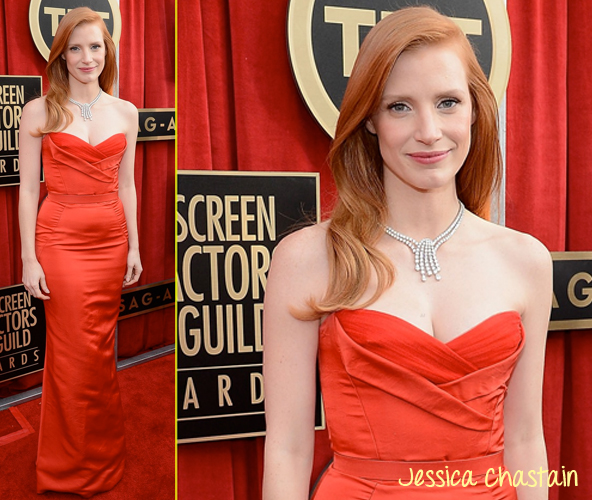jessica chastain sag awards 2013