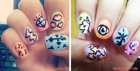 penny nail art summer 2014
