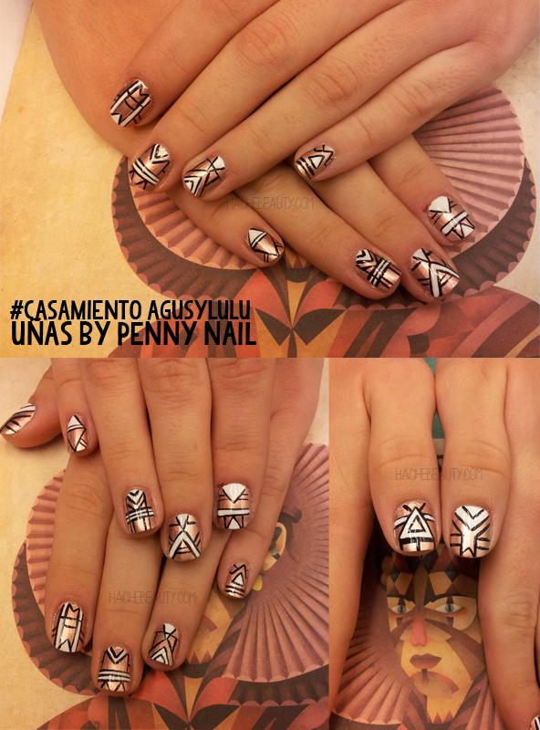 uñas penny nail casamiento hache beauty