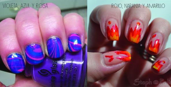 combinar colores nail art 7