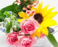 父の日に贈る「バラ」と「ひまわり」