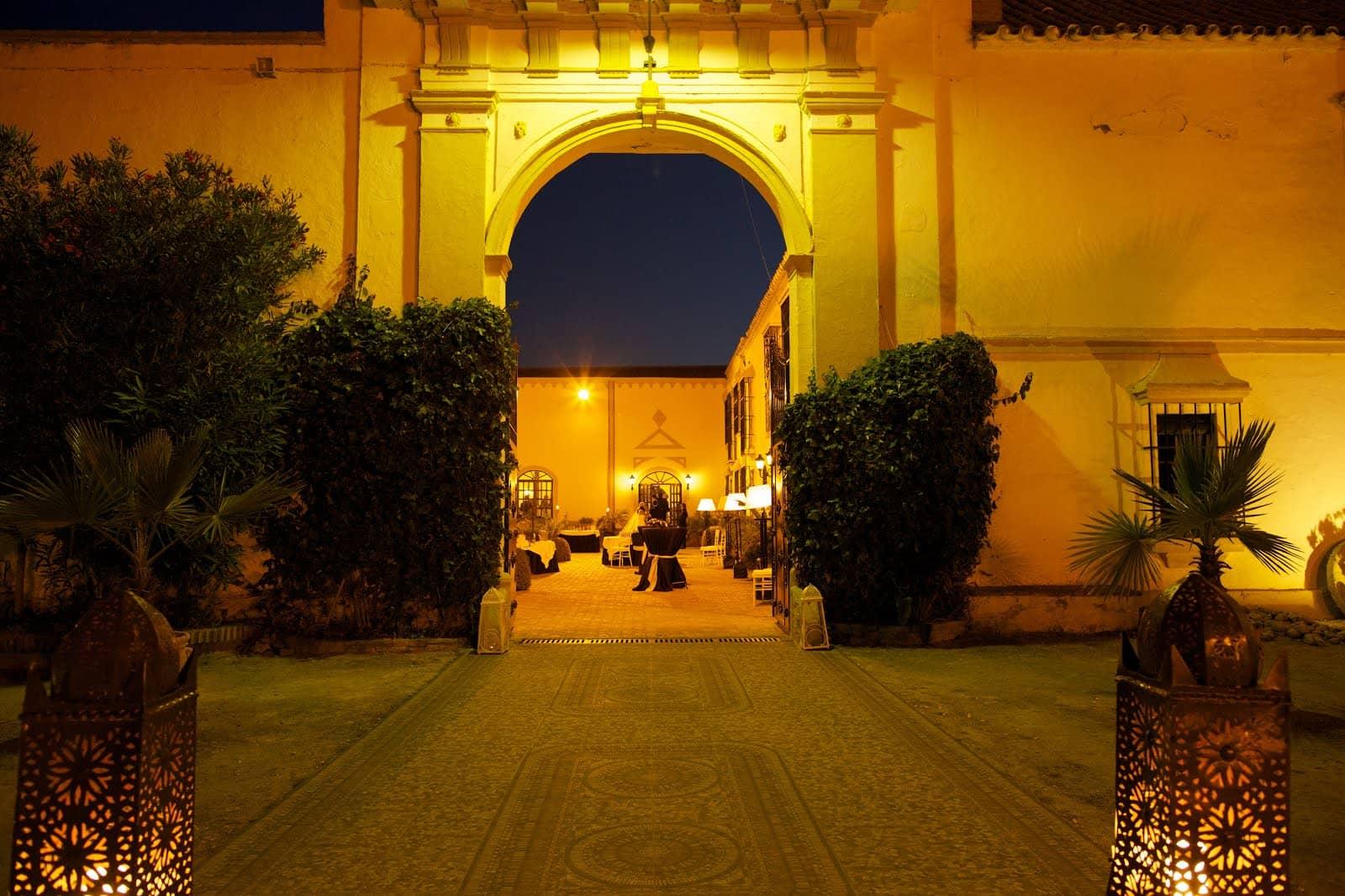 entrada de la hacienda