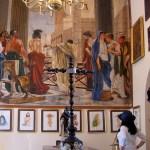 """Óleo """"Ecce hommo"""" en la sacristía de la capilla de la Hacienda Villejé."""