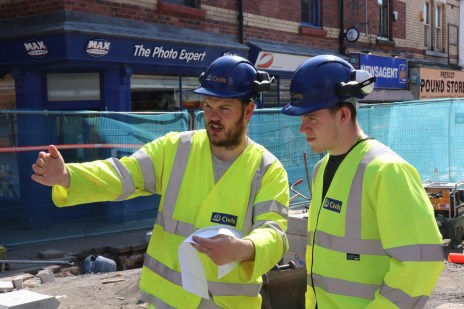 Elliot (right) with HA Civils mentor Colin