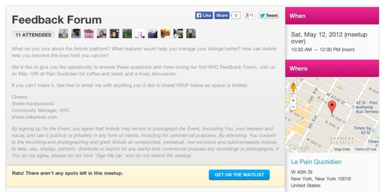 forum do airbnb marketplace