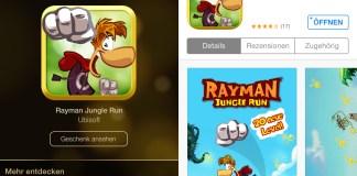 Rayman Jungle Run, kostenlos, iTunes 12 Tage Geschenke, Tag 07, Review, Anleitung, Download, Hack4Life, Fabian Geissler