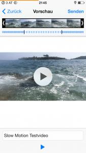 Slow Motion Videos über WhatsApp versenden