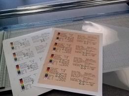 Color prints and laminating sheet