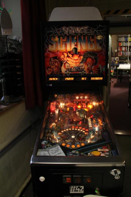 What's a hackerspace without a pinball machine?