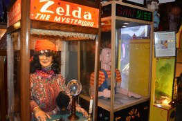Two of many fortune teller machines.