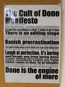 Cult of Done Manifesto