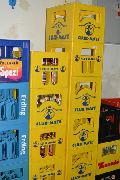 The stores of Club Mate. There was also a vending machine.