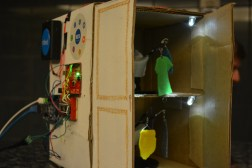 The mechanized racks of the automated closet