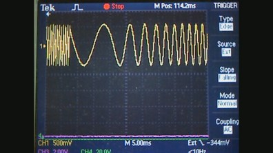 HP3314A Function Generator in Sweep Mode