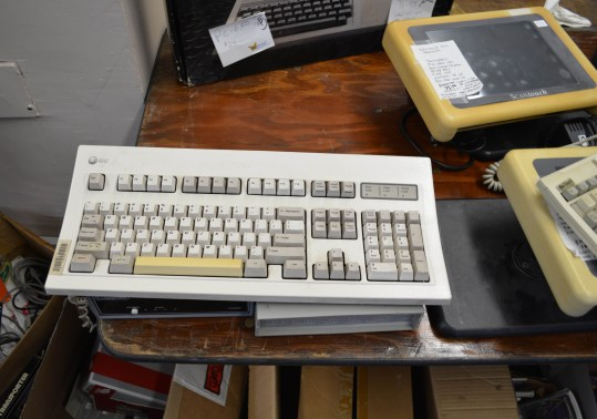 An AT&T UNIX system keyboard. Not shown - the UNIX system. Because the two guys that bought it bought just about everything.