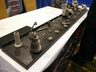 Samples of 3D printed metal parts