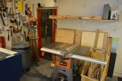 Table saw for cutting plywood to size