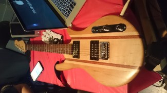 Awesome guitar made at the MCC Fab Lab.