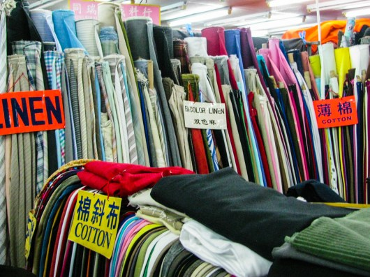 Fabric selection inside the Fabric Mall
