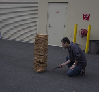 The basic premise of Hammer Jenga