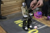 A Hebocon bot, using a mouse trap as a weapon