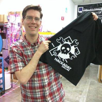 Mike Szczys with DIY shirt
