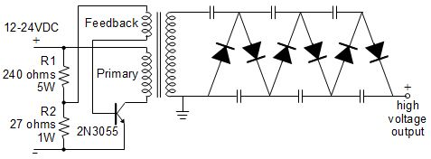Flyback driver with voltage multiplier