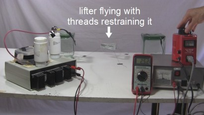 Lifter flying with high voltage power supply