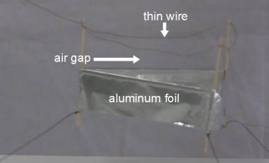Lifter parts showing the thin wire and aluminum foil