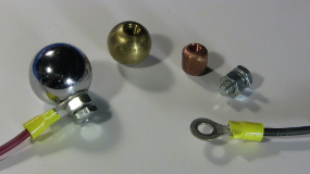 Metal balls and ring connectors