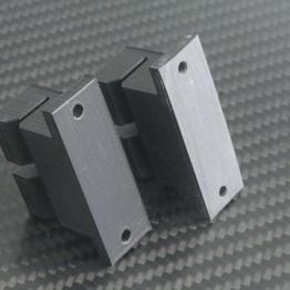 Unsanded left, sanded right, belt holder for Prusa i3.