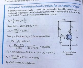 Determining resistor values