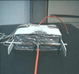 Polysulfide high K capacitor - Front view