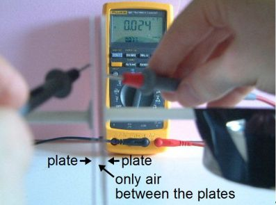 Measuring capacitance with air dielectric