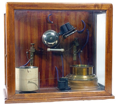 Popov lightning detector with chart recorder