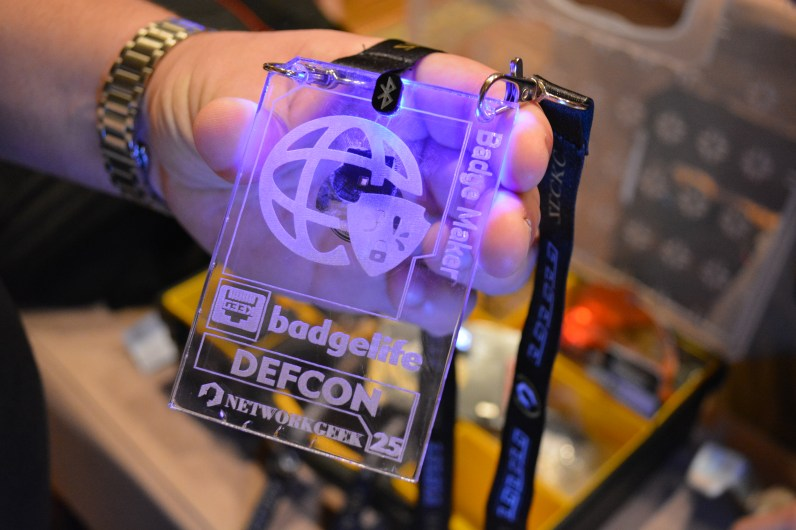 NetworkGeek acrylic badge