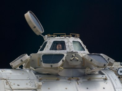 ISS's Cupola with shutters