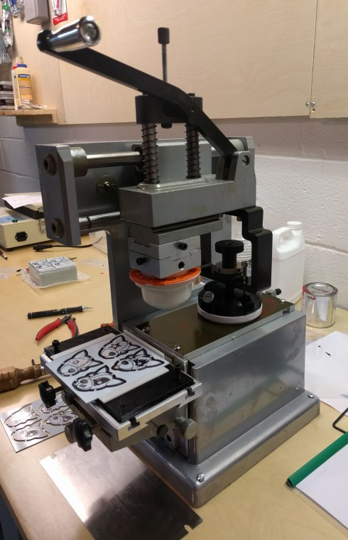 The pad printing machine itself