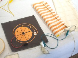Nicole's helical sleeve antenna and conductive FM transmitter circuit.