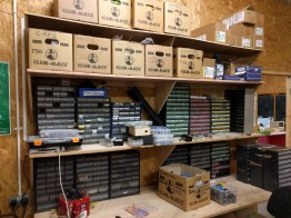 component storage (note the Club Mate boxes)