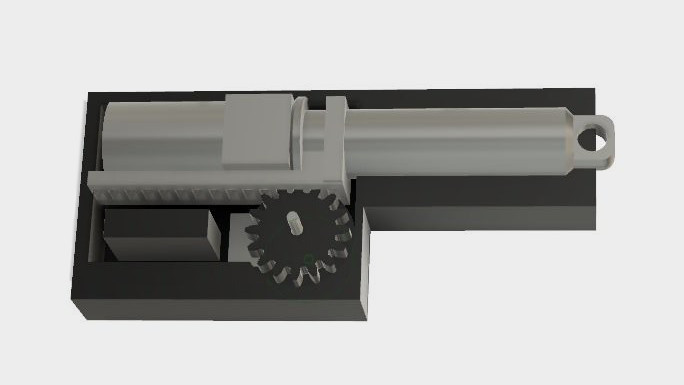 servo becomes mini linear actuator