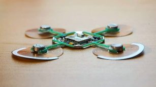 Flex PCB flippers help this little bot move.