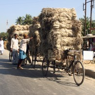Trike Overloaded with Hay